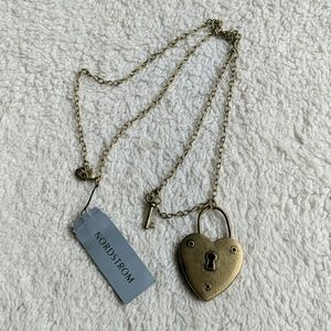 Nordstrom Heart Lock and Key Necklace